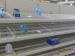 Straight Out Of An Apocalypse Movie. Walmart Completely Cleared Out Before A Blizzard.