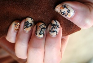 Inspired by cave paintings from Chauvet and Lascaux.