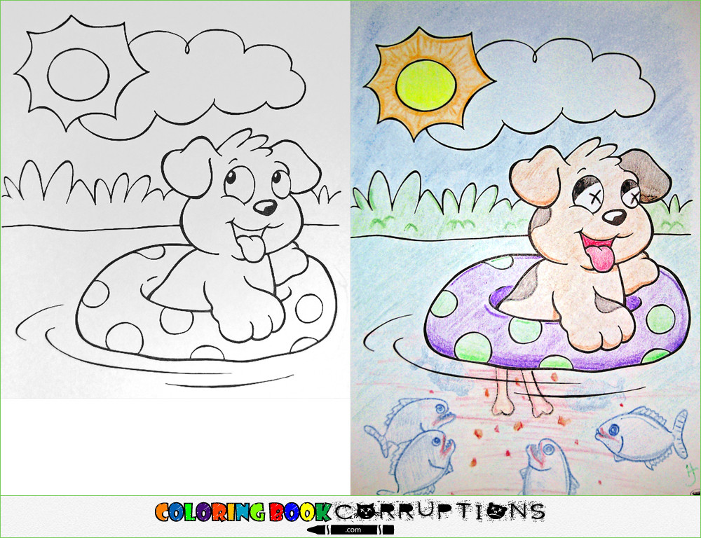 The Innocent World Of Colouring Books Goes Horribly Wrong