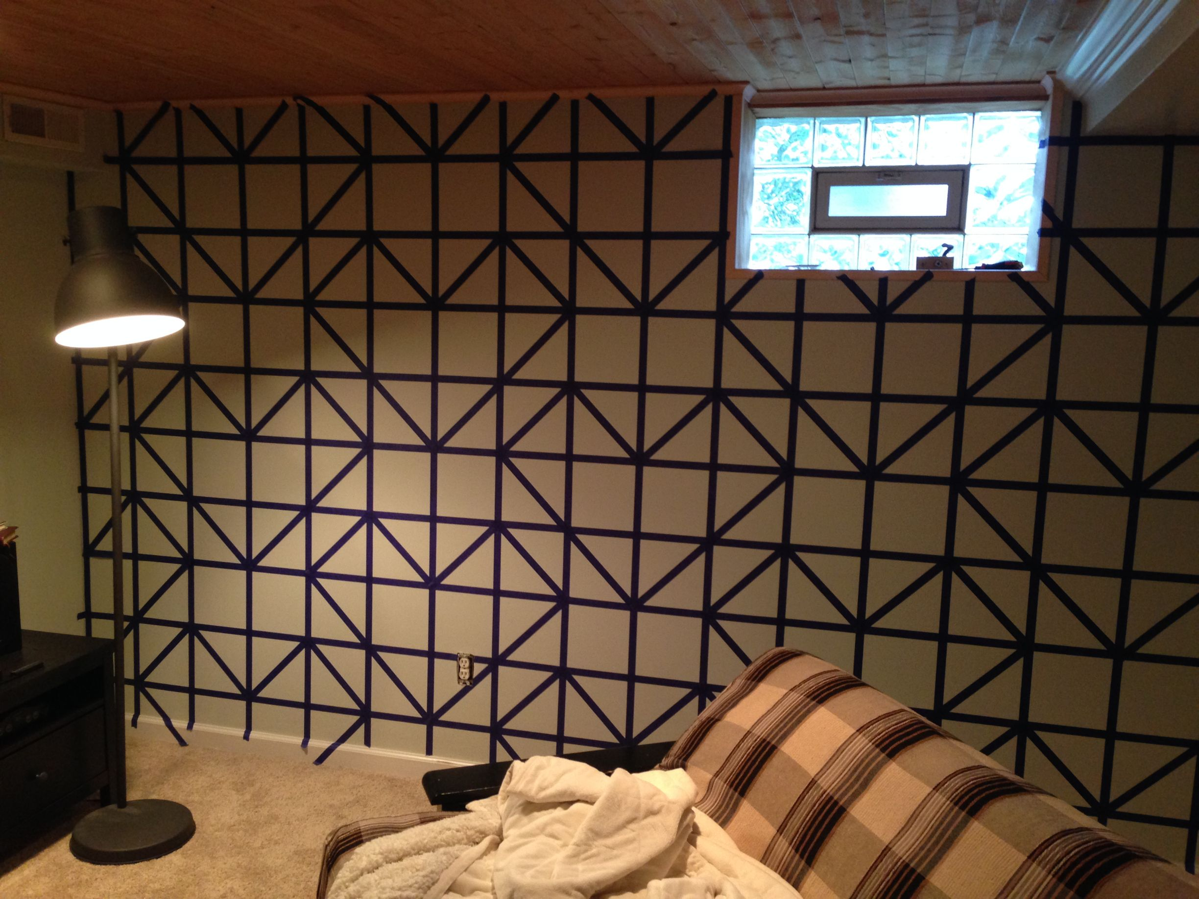 paint a design on wall geometric triangle idea with tape diy for life images bhxtazr mx8dufq - Paint Designs On Walls With Tape Ideas