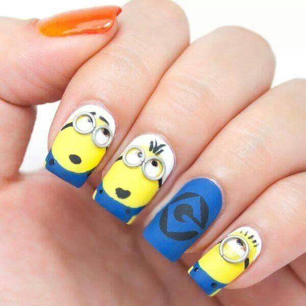 Deable Me Minion Nails 29 Insanely Creative Nail Art Designs I Had No Idea This Was
