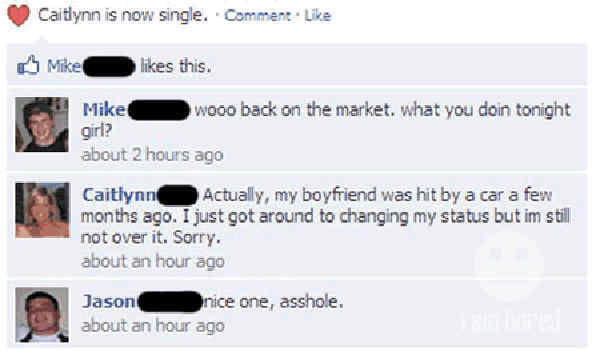 funniest-facebook-flirting-fails-hit-by-car