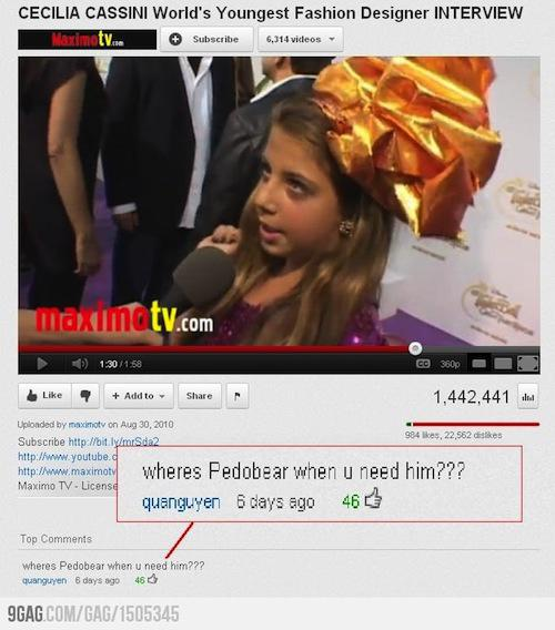 Comments: Funny-youtube-comments-pedobear